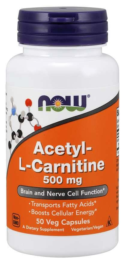 Acetyl-L-Carnitine, Ацетил-L-Карнитин 500 мг - 50 вегетарианских капсул