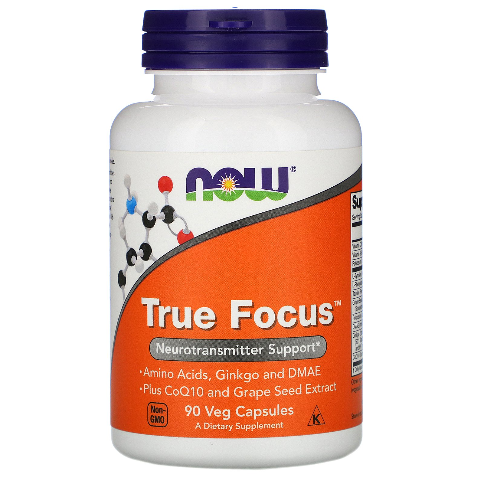 NOW True Focus, Тру Фокус Комплекс - 90 капсул