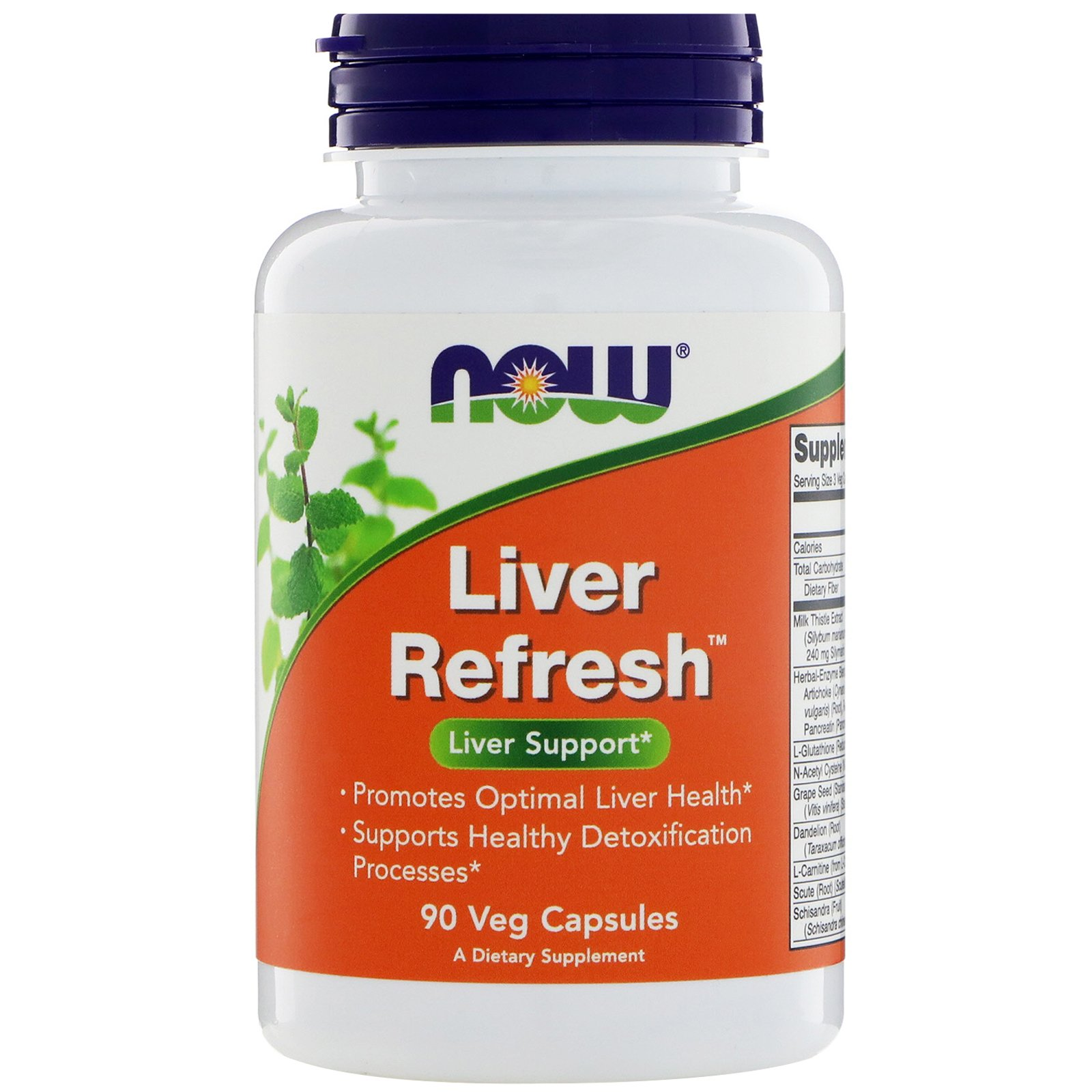NOW Liver Refresh (Detoxifier), Ливердетокс, Комплекс Для Печени - 90 вегетарианских капсул