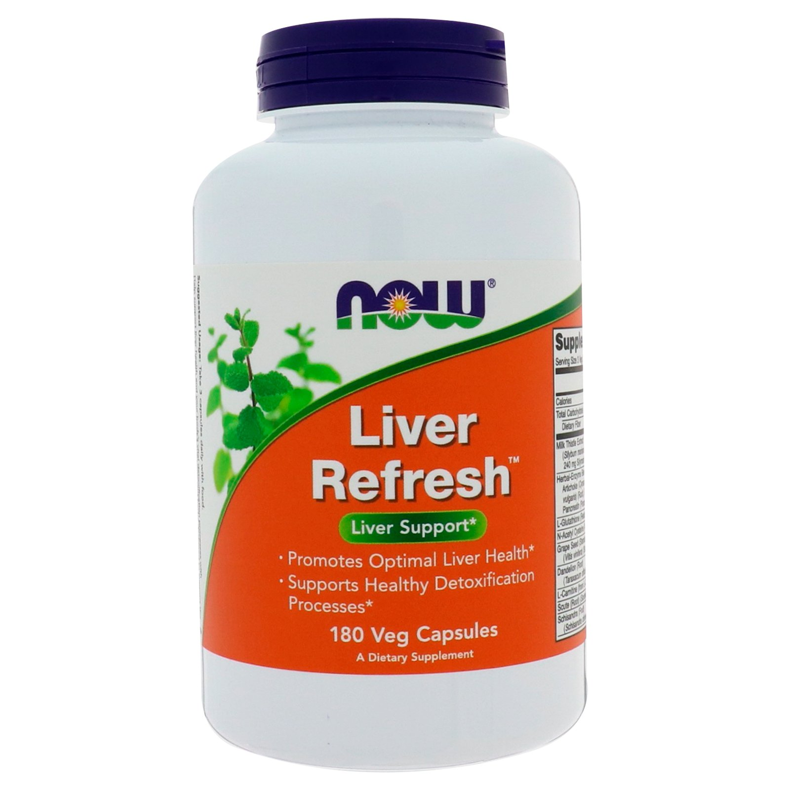 NOW Liver Refresh (Detoxifier), Ливердетокс, Комплекс Для Печени - 180 вегетарианских капсул