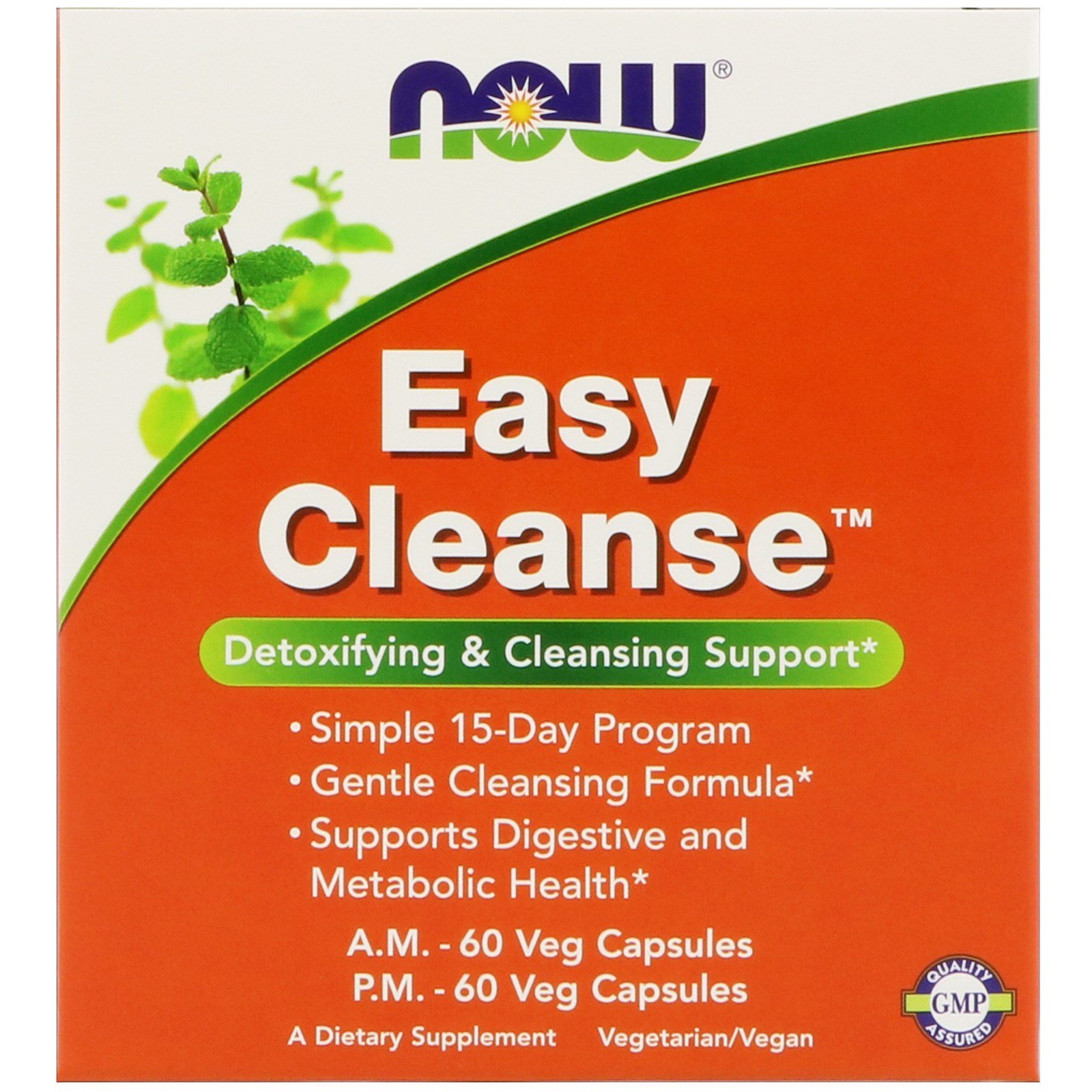 NOW Easy Cleanse, Изи Клинз, Комплекс 2 банки по 60 капсул