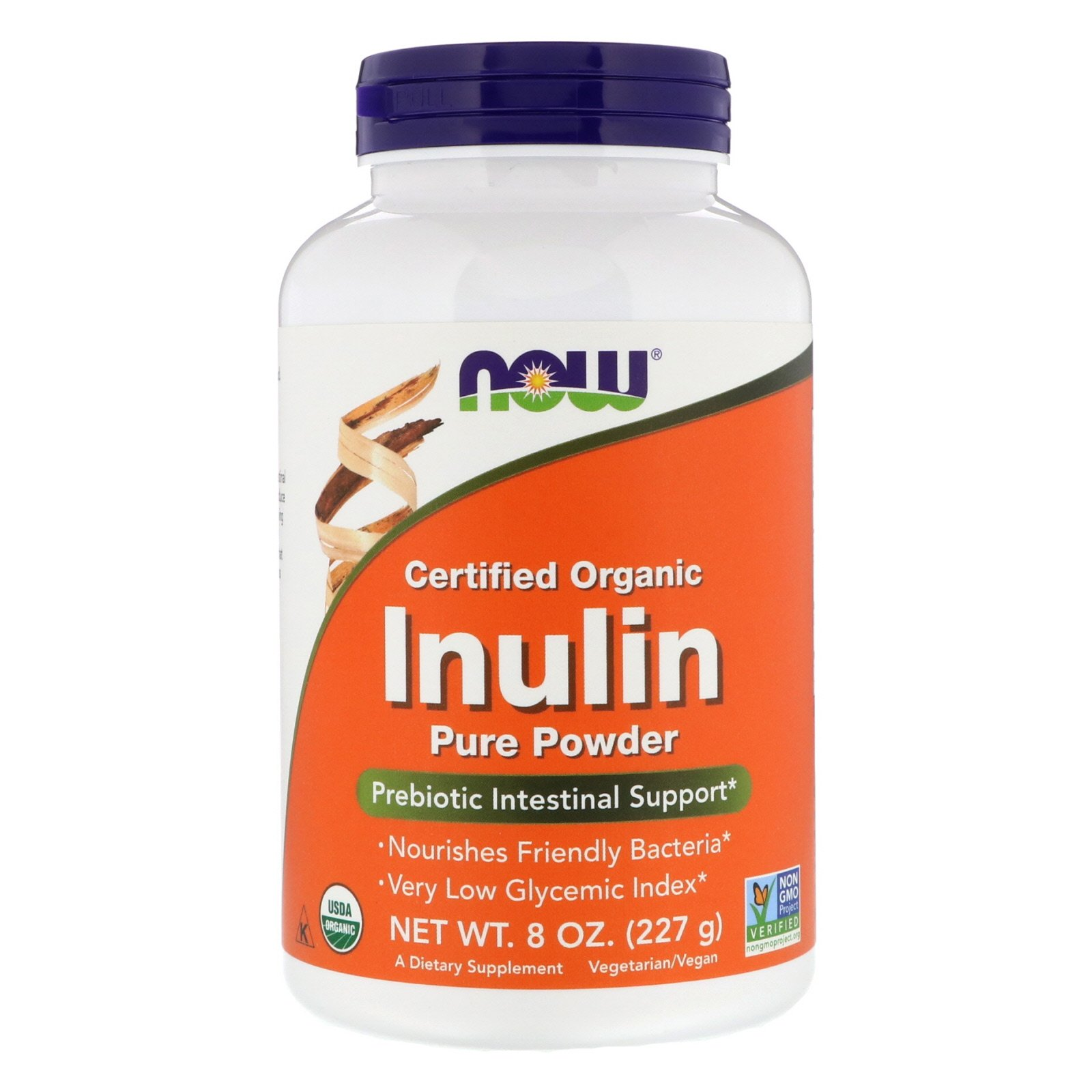 NOW Inulin Prebiotic FOS, Инулин Пребиотик Порошок 227 г