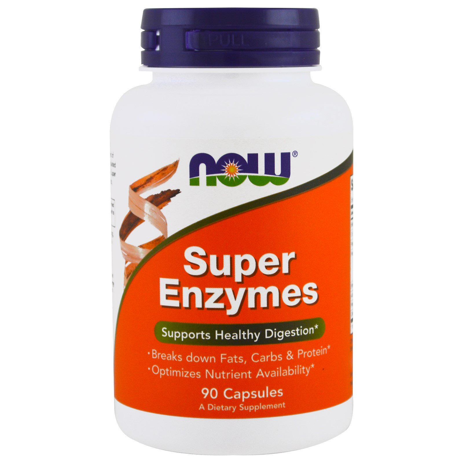 NOW Super Enzymes, Супер Ферменты, Энзимы - 90 капсул
