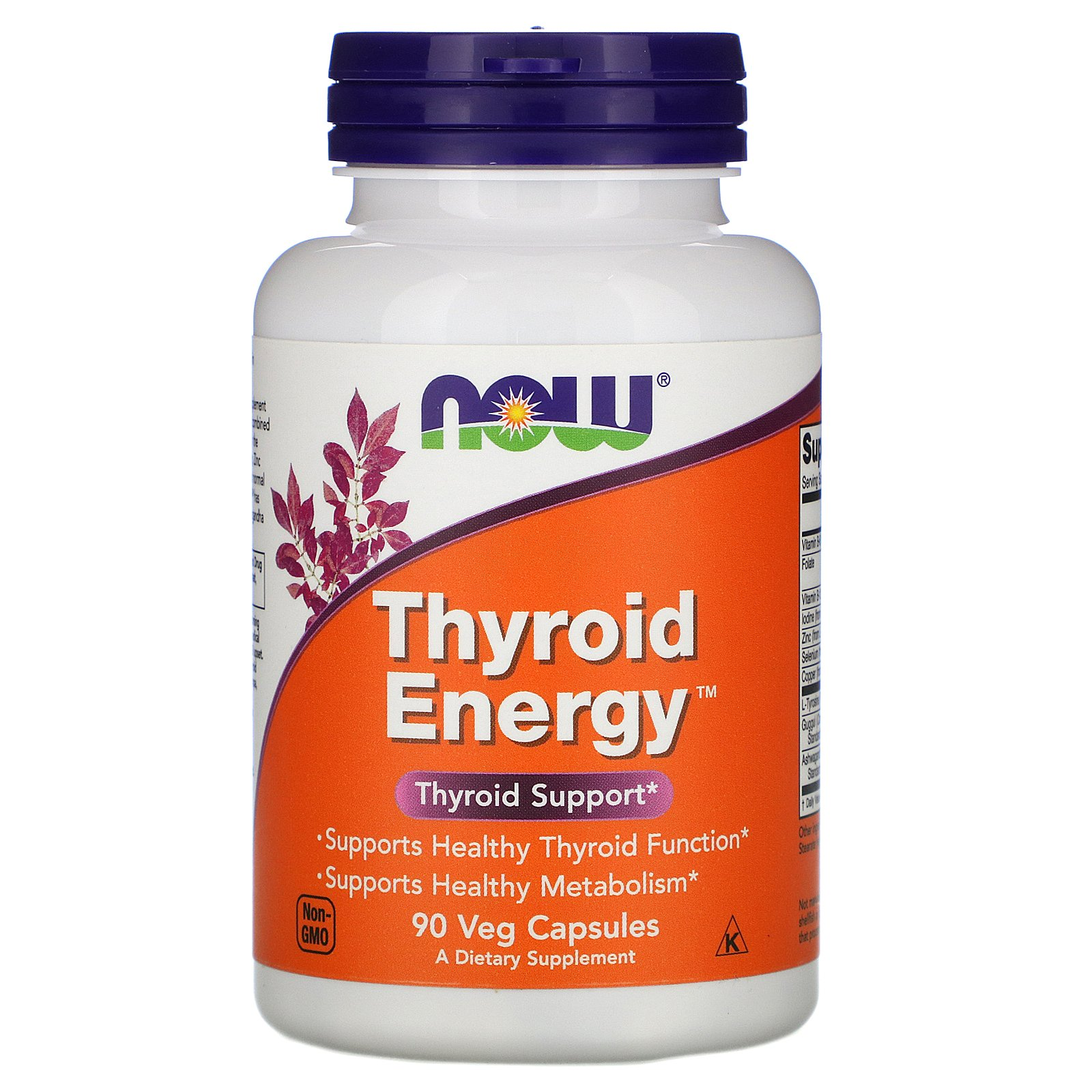 NOW Thyroid Energy, Тироид Энерджи Комплекс - 90 капсул