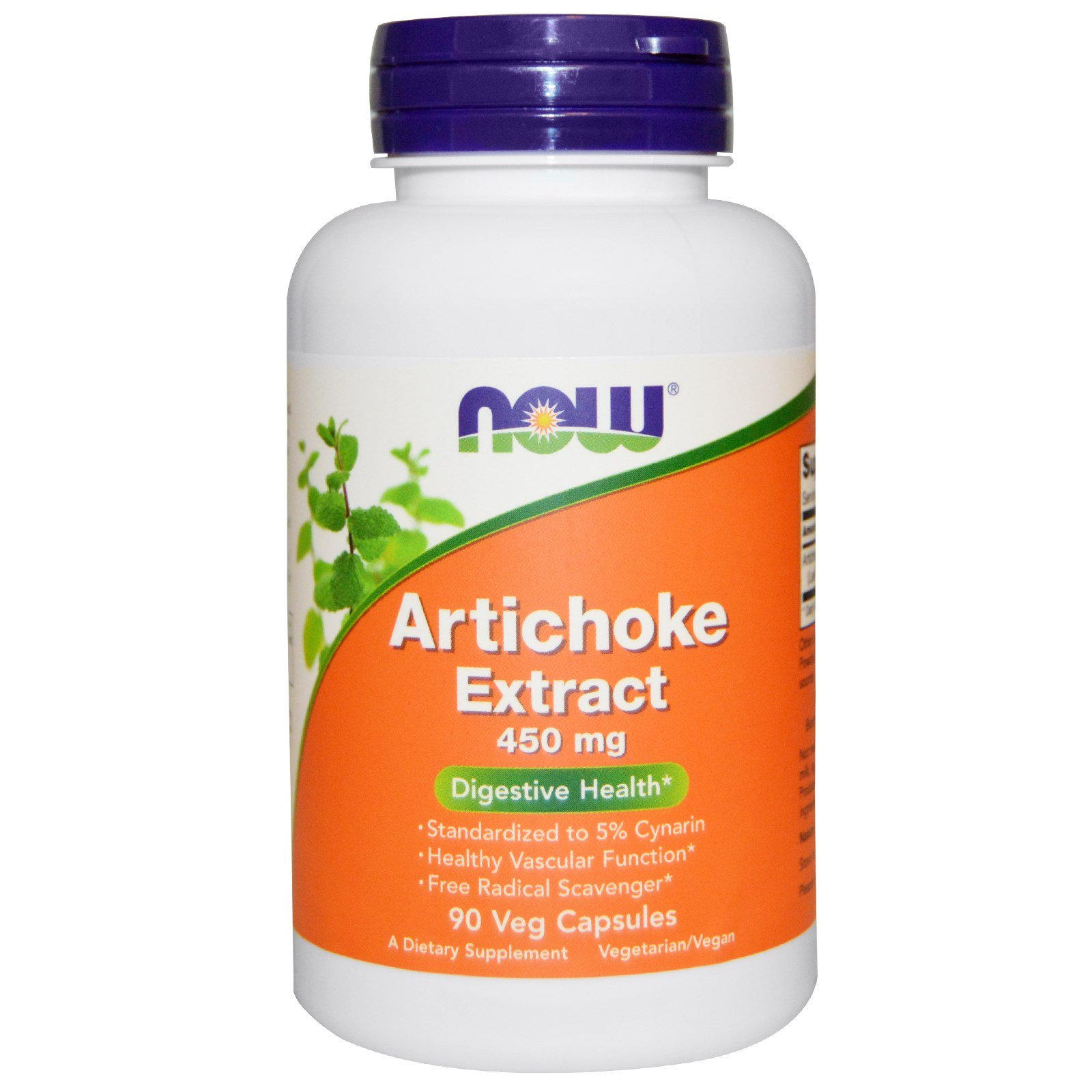 NOW Artichoke Extract, Артишок Экстракт 450 мг - 90 капсул